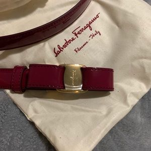 Salvatore Ferragamo Miss Vara Leather Belt XL
